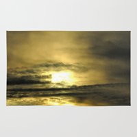 oregon Area & Throw Rugs featuring OREGON SUNSET by Teresa Chipperfield Studios