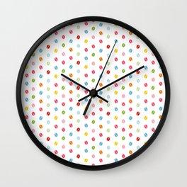 Rainbow coffee beans Wall Clock