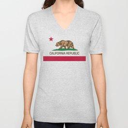 California Republic Flag, High Quality Image Unisex V-Neck