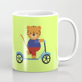 Tiger on Scooter Coffee Mug