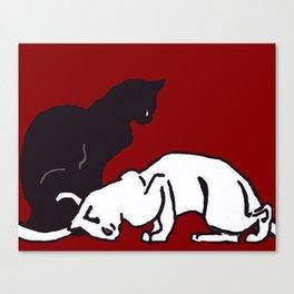 """Théophile Steinlen  """"Frise de chats"""" (edited)(2) Canvas Print"""