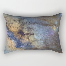 The Milky Way and constellations Scorpius, Sagittarius and the super big red star Antares. Rectangular Pillow
