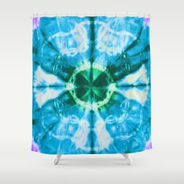 Boho Blue Bloom Shower Curtain