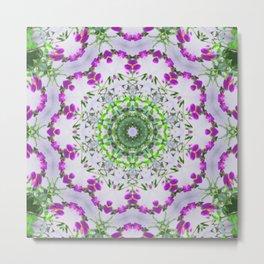 Purple Wildflower Kaleidoscope Art 5 Metal Print
