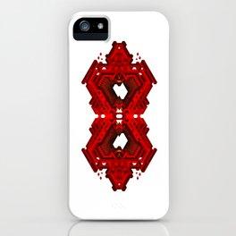 Infinite Red Hex -0 iPhone Case