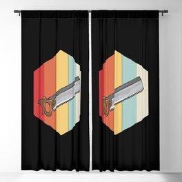 Retro Vintage Handsaw Blackout Curtain