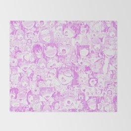 Pastel Ahegao Collage Throw Blanket