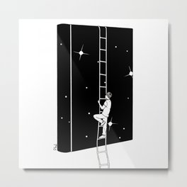 A book is an uphill dream Metal Print