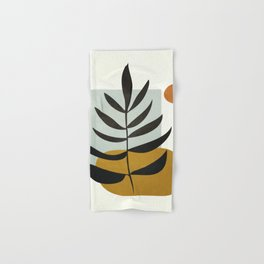 Soft Abstract Large Leaf Hand & Bath Towel