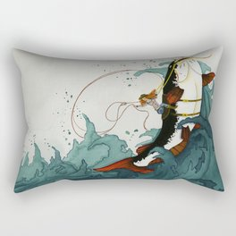 Wave Rider Rectangular Pillow
