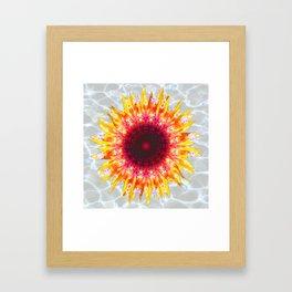 sunflower happiness Framed Art Print