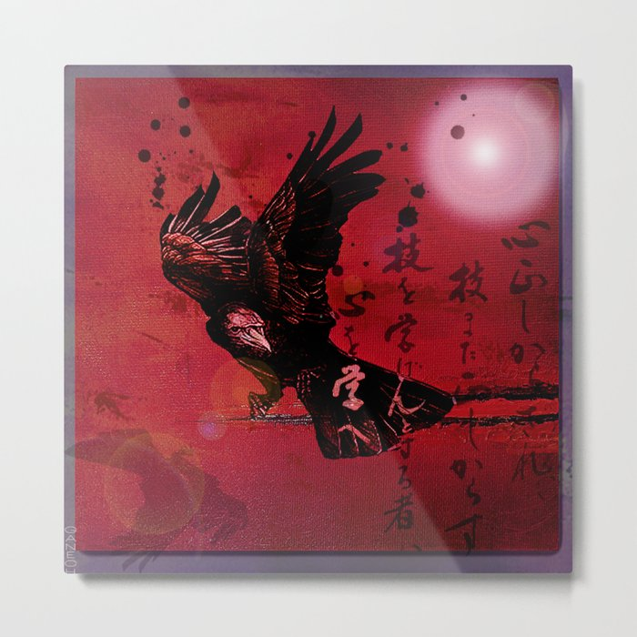 The crow philosophizes Metal Print