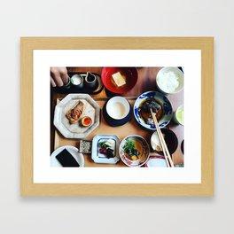 Japanese breakfast Framed Art Print