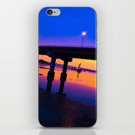 Colorful Casco Bay Bridge Sunset in South Portland, Maine iPhone Skin