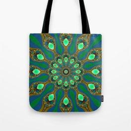 Fractal jewel mandala Tote Bag