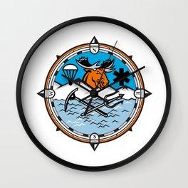 Moose Pararescue Mascot Wall Clock