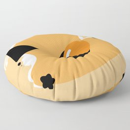 Scrambled in Space Floor Pillow