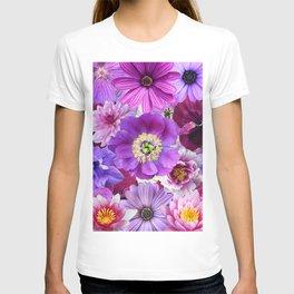 PURPLE FLOWERS T-shirt