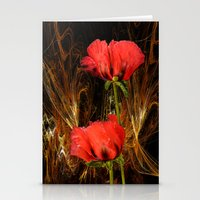 passion Stationery Cards featuring Passion by LudaNayvelt