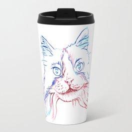 Fluffy Tuxedo Cat Travel Mug