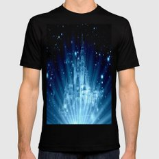 Magical Castle Mens Fitted Tee Black MEDIUM