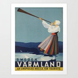 Vintage poster - Sweden Art Print