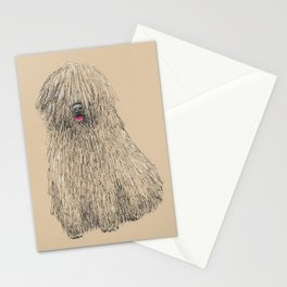 Hungarian puli dog Stationery Cards