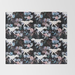 Jurassic Noir Throw Blanket