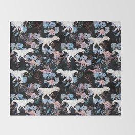 Jurassic Noir Throw Blanket