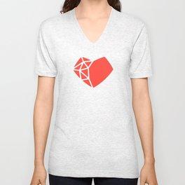 Heart Shaped Games Logo Unisex V-Neck
