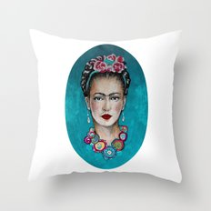 frida kahlo Throw Pillow