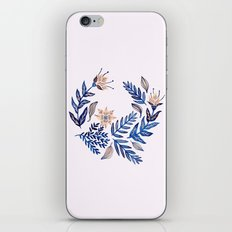 Blue Wreath iPhone & iPod Skin