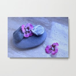 stones and orchids Metal Print