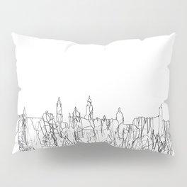 Glasgow, Scotland UK Skyline B&W - Thin Line Pillow Sham
