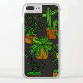 Plants and vases Clear iPhone Case