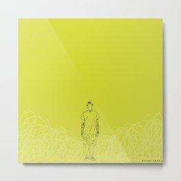 Yellow Dust Metal Print