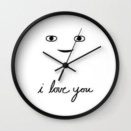 Hi Stranger - i love you Wall Clock