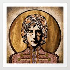Boho Beatle (John) Art Print