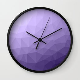 Ultra violet purple geometric mesh Wall Clock