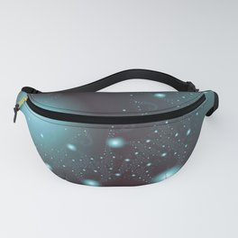 Blue Cosmos Abstract Fractal Art Fanny Pack