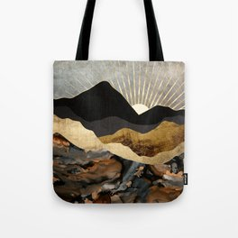 Copper and Gold Mountains Tote Bag