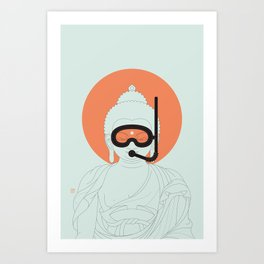Buddha : Take A Deep Breath! Art Print