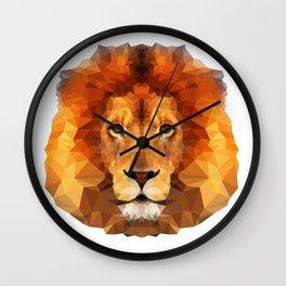 Geometric Lion Wall Clock