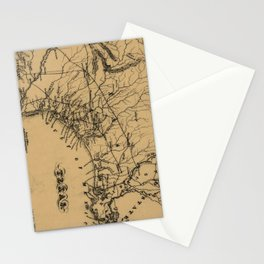 Vintage Map of Texas (1838) Stationery Cards