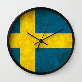 Sweden flag, circle Wall Clock