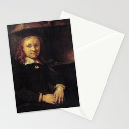 Rembrandt - Portrait of Jan Boursse, Sitting by a Stove Stationery Cards