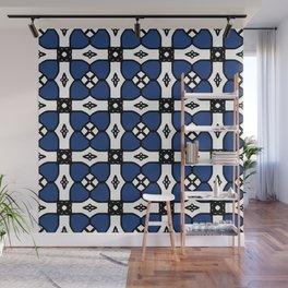 Little Blue Flowers Wall Mural