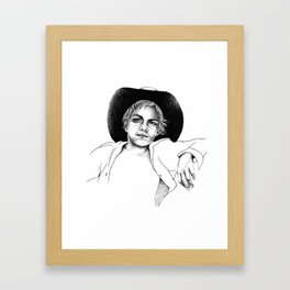 Aboriginal ABoriginal Kid Framed Art Print