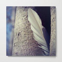Tree Feather Metal Print