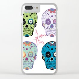 The Four Sugar Skulls . Clear iPhone Case